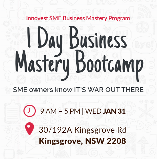 1 Day Business Mastery Bootcamp - Kingsgrove