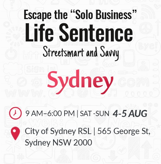 "Escape The ""Solo Business"" Life Sentence Aug 4-5 - Hover"